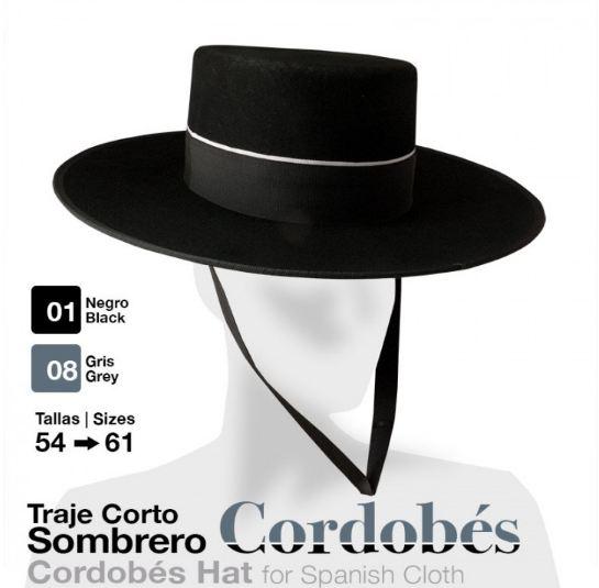 Traje Corto Sombrero Cordobes Negro 54. HIPISUR EN JEREZ DESDE 1.995   tienda hípica f92fbf69f79